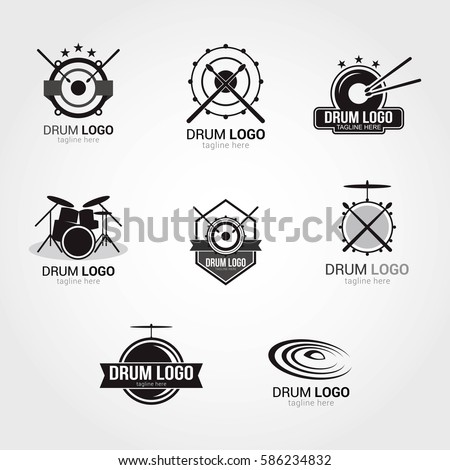 drum logo design template