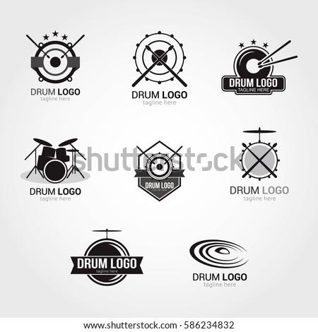 drum logo design template