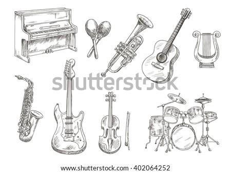 drum set and piano  saxophone ...