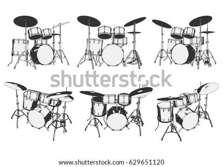 drum set drum kit drums