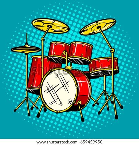 drum set musical instrument pop