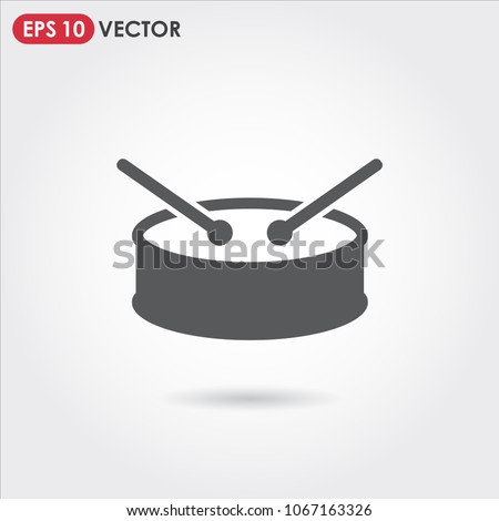 drum single vector icon on