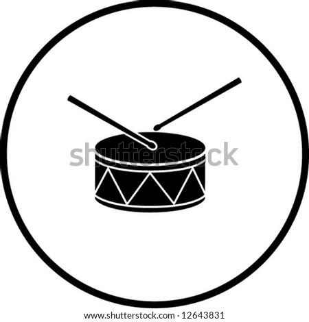 Drum Symbol Stock Vector 12643831 : Shutterstock