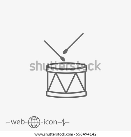 drum vector icon