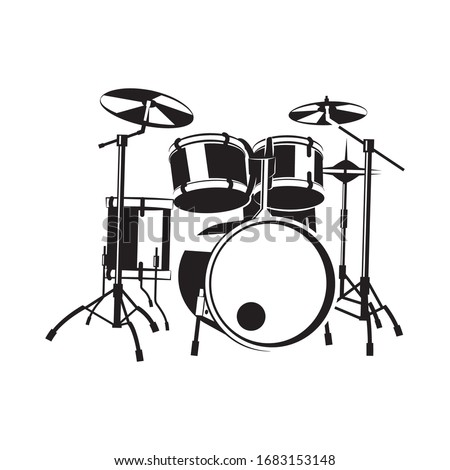 Drum vector. Vector illustration of a musical instrument that plays it the way it hits. Stockfoto ©