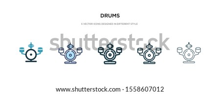 drums icon in different style