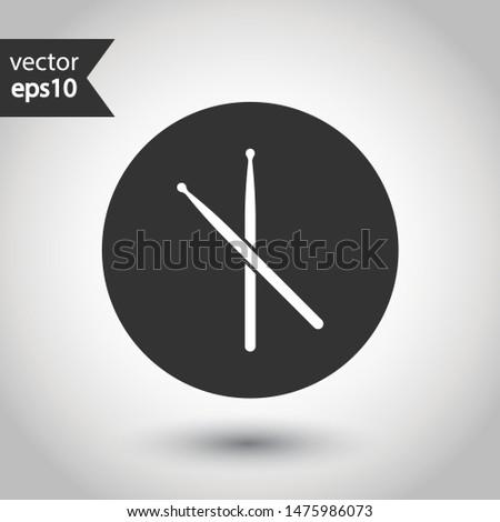 drumstick vector icon drum