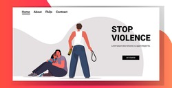 drunk angry husband punching and hitting wife with child stop domestic violence aggression concept