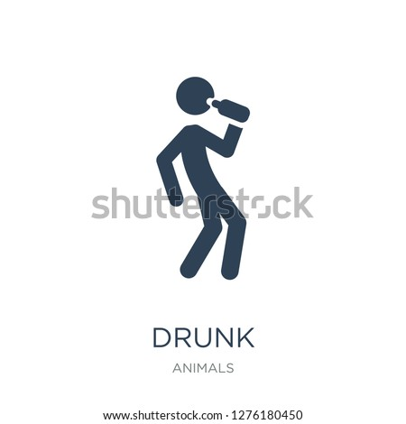 drunk icon vector on white background, drunk trendy filled icons from Animals collection, drunk vector illustration Сток-фото ©
