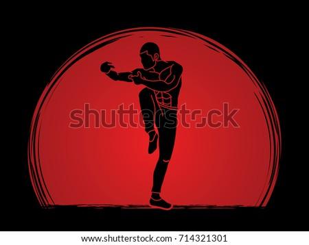drunken kung fu pose designed