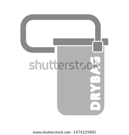 dry bag icon. flat illustration of dry bag vector icon. dry bag sign symbol