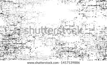 Dry Brush Strokes and Scratches Retro Grunge Background. Vintage Hand Painted Dirty Seamless Pattern. Faded Dyed Paper Texture. Broken, Rusty Print Design Background.