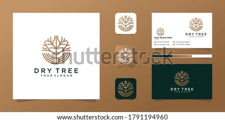 dry tree vector logo tree