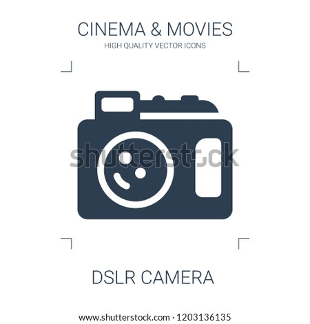 dslr camera icon. high quality filled dslr camera icon on white background. from cinema collection flat trendy vector dslr camera symbol. use for web and mobile