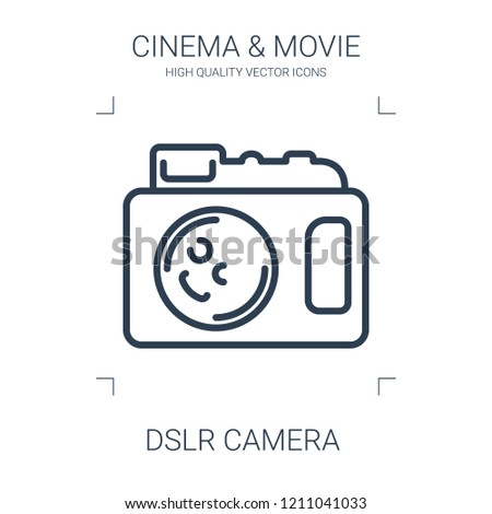 dslr camera icon. high quality line dslr camera icon on white background. from cinema collection flat trendy vector dslr camera symbol. use for web and mobile