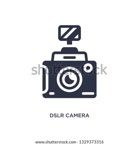 dslr camera icon. Simple element illustration from cinema concept. dslr camera editable symbol design on white background. Can be use for web and mobile.