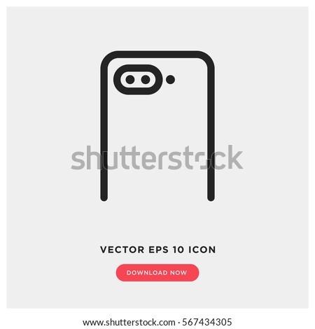 dual camera smartphone vector