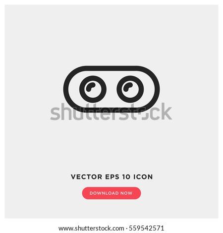 dual camera vector icon  depth