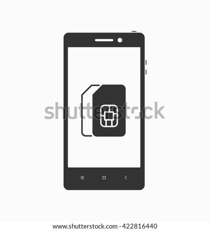 dual double sim smartphone icon