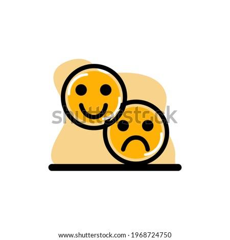dual emotions happy and sad