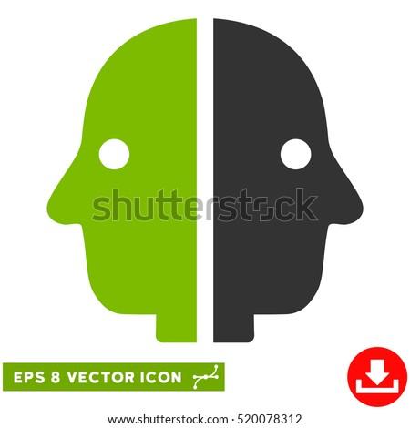 dual face eps vector pictogram