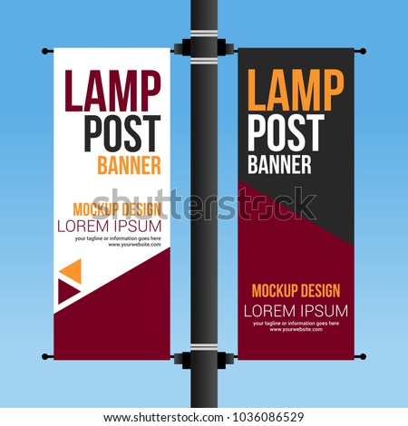 dual lamp post banner abstract