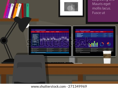 dual monitor stocks trading two