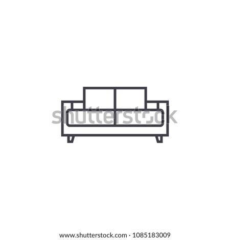 dual recliner vector line icon