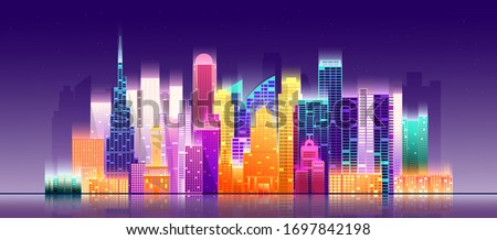 dubai city cityscape on a dark