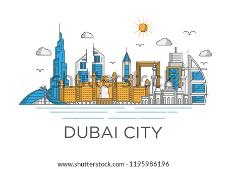 dubai city skyline background