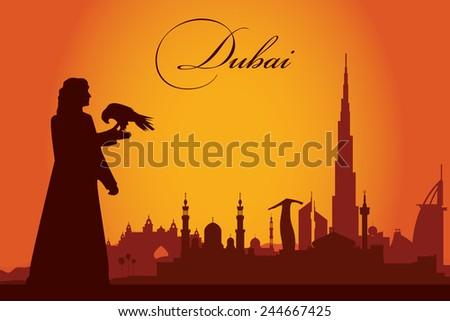 dubai city skyline silhouette