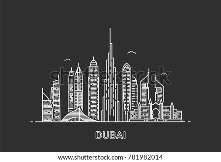 dubai skyline city and tourism