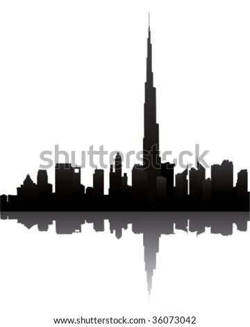 dubai skyline with burj dubai