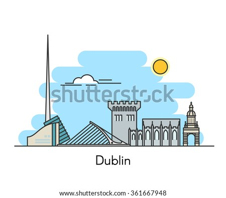 dublin city skyline background