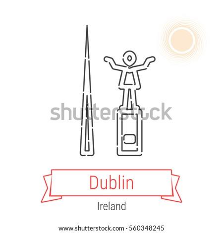 dublin  ireland  flat style