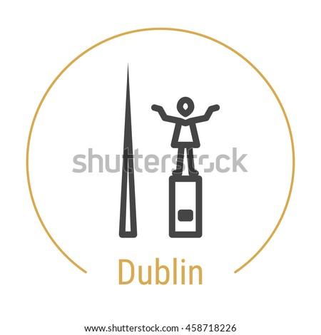 dublin  ireland  outline icon