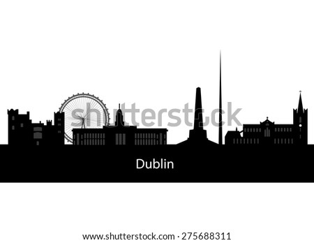 dublin  ireland skyline