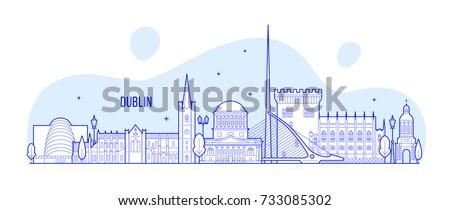 dublin skyline  ireland this
