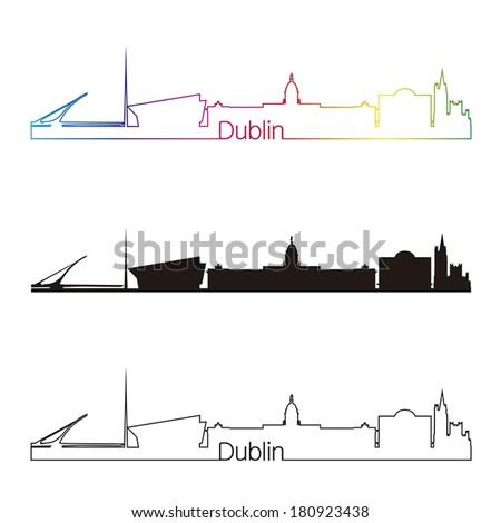 dublin skyline linear style
