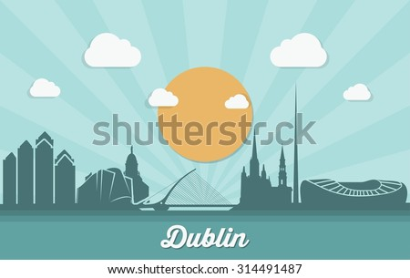dublin skyline   vector