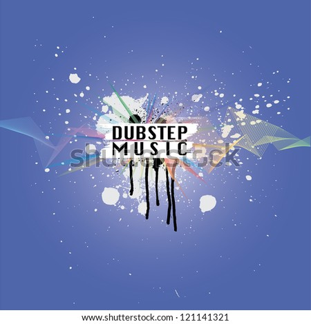 dubstep music vector