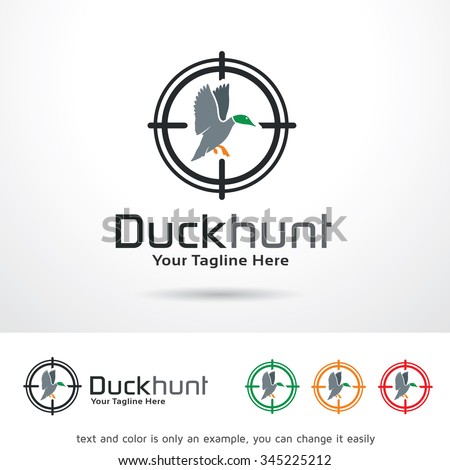 duck hunt logo template design