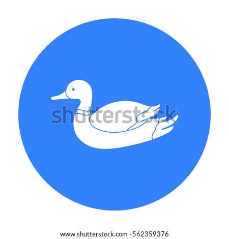 Duck icon in black style isolated on white background. Hunting symbol stock vector illustration.