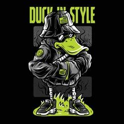 Duck in Style Neon Series Illustration