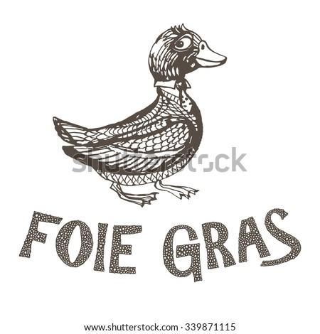 duck liver letteringvector