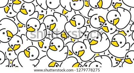 duck seamless pattern vector rubber ducky isolated cartoon illustration bird bath shower repeat wallpaper tile background gift wrap paper white