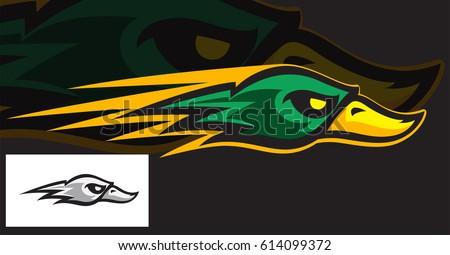 ducks head sports logo mascot