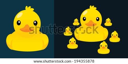 ducks vector  cartoon cute...