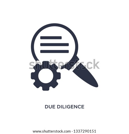 due diligence icon. Simple element illustration from human resources concept. due diligence editable symbol design on white background. Can be use for web and mobile. Foto stock ©