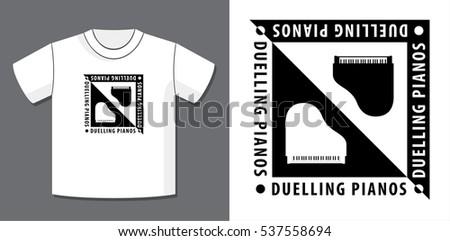 duelling pianos logo design